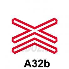 A32b - Výstražný kříž pro železniční přejezd vícekolejný
