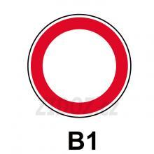 B01 - Zákaz vjezdu všech vozidel (v obou směrech)