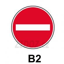 B02 - Zákaz vjezdu všech vozidel