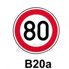B20a - Nejvyšší povolená rychlost