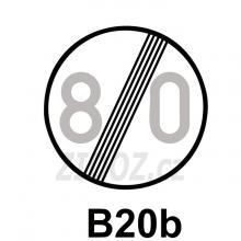 B20b - Konec nejvyšší povolené rychlosti