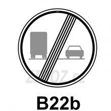 B22b - Konec zákazu předjíždění pro nákladní automobily