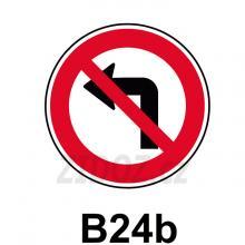 B24b - Zákaz odbočování vlevo