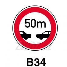 B34 - Nejmenší vzdálenost mezi vozidly