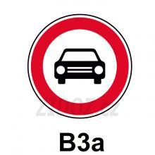 B03a - Zákaz vjezdu všech motorových vozidel s výjimkou motocyklů bez postranního vozíku