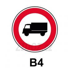 B04 - Zákaz vjezdu nákladních automobilů