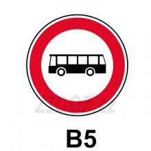 B05 - Zákaz vjezdu autobusů