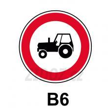 B06 - Zákaz vjezdu traktorů