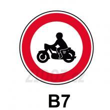 B07 - Zákaz vjezdu motocyklů