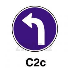 C02c - Přikázaný směr jízdy vlevo