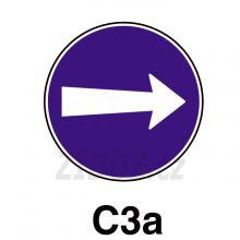 C03a - Přikázaný směr jízdy zde vpravo