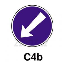 C04b - Přikázaný směr objíždění vlevo
