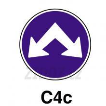 C04c - Přikázaný směr objíždění vpravo a vlevo