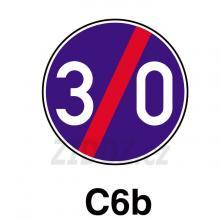 C06b - Konec nejnižší dovolené rychlosti