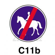 C11b - Konec stezky pro jezdce na zvířeti