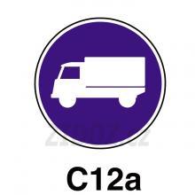 C12a - Přikázaný jízdní pruh