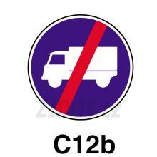 C12b - Konec přikázaného jízdního pruhu