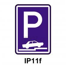 IP11f - Parkoviště (částečné na chodníku kolmé nebo šikmé)
