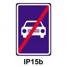 IP15b - Konec silnice pro motorová vozidla