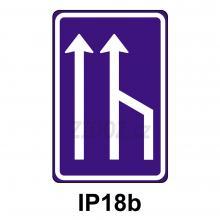 IP18b - Snížení počtu jízdních pruhů