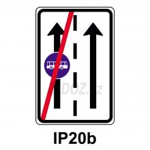 IP20b - Konec vyhr. jízdního pruhu
