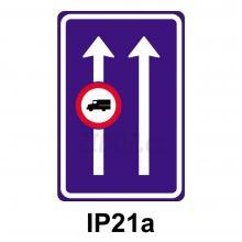 IP21a - Omezení v jízdním pruhu