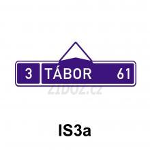 IS03a - Směrová tabule (s jedním cílem)