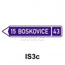IS03c - Směrová tabule (s jedním cílem)
