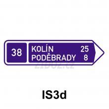 IS03d - Směrová tabule (s dvěma cíli)