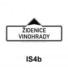 IS04b - Směrová tabule (s dvěma místními cíli)