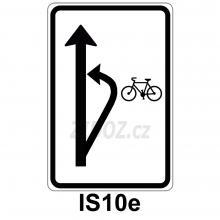 IS10e - Návěst doporučeného způsobu odbočení cyklistů vlevo