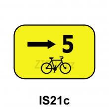 IS21c - Směrová tabulka pro cyklisty