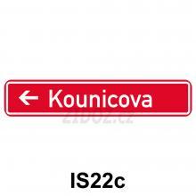 IS22c - Označení názvu ulice