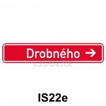 IS22e - Označení názvu ulice