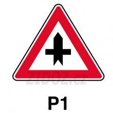 P01 - Křižovatka s vedlejší pozemní komunikací
