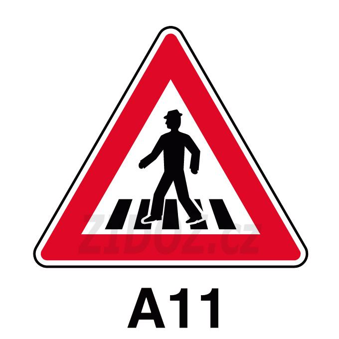 A11 - Pozor, přechod pro chodce
