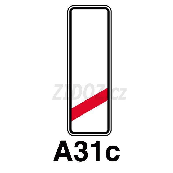 A31c - Návěstní deska(80 m)