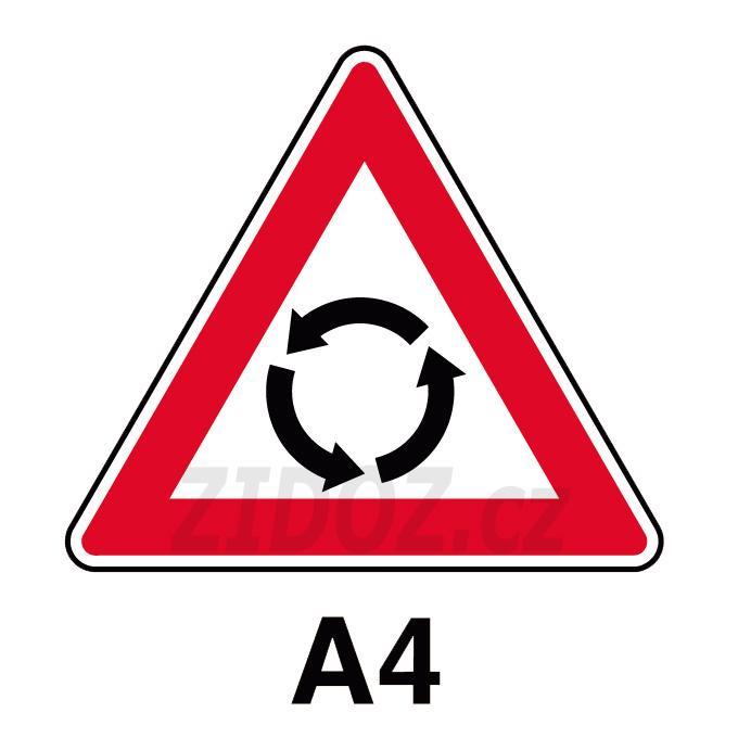A04 - Pozor, kruhový objezd