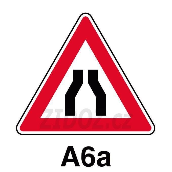 A06a - Zúžená vozovka (z obou stran)