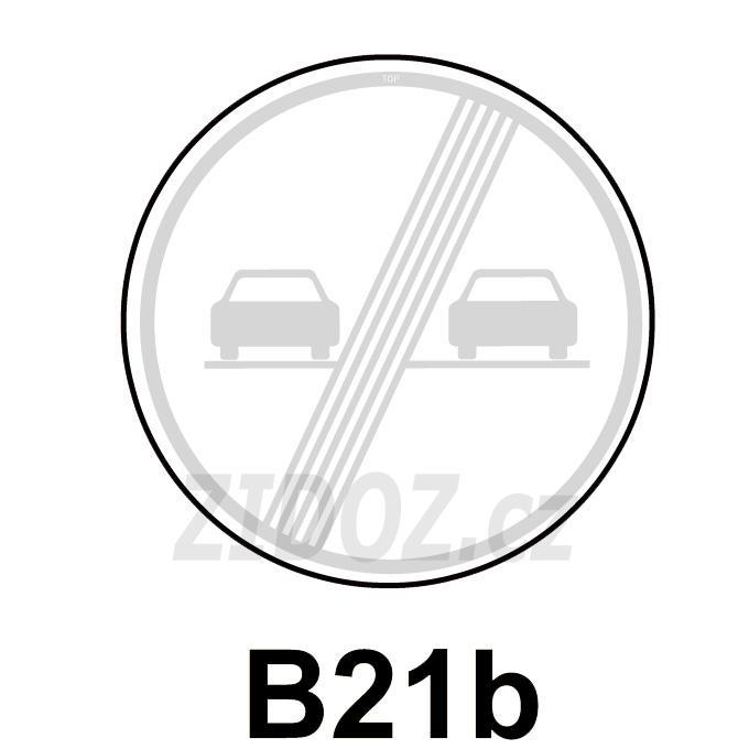 B21b - Konec zákazu předjíždění