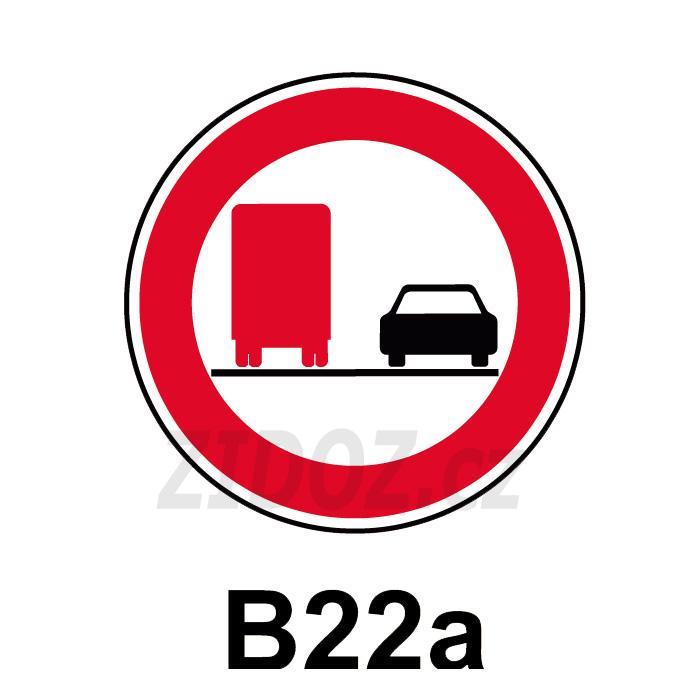 B22a - Zákaz předjíždění pro nákladní automobily
