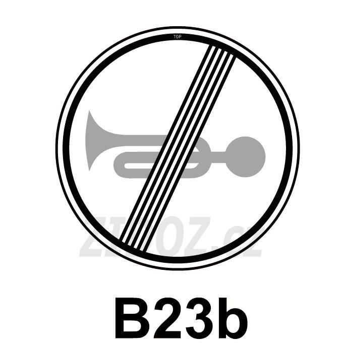 B23b - Konec zákazu zvukových výstražných znamení