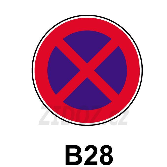 B28 - Zákaz zastavení