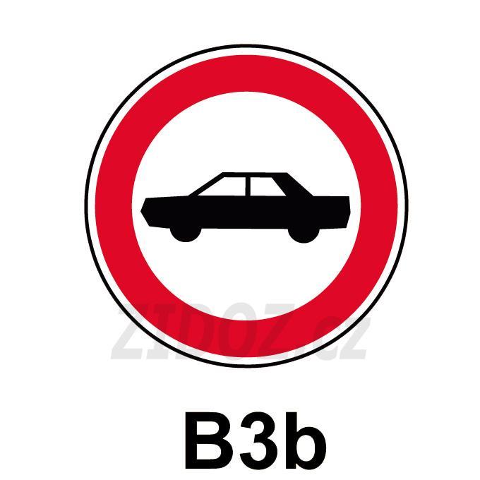 B03b - Zákaz vjezdu osobních automobilů