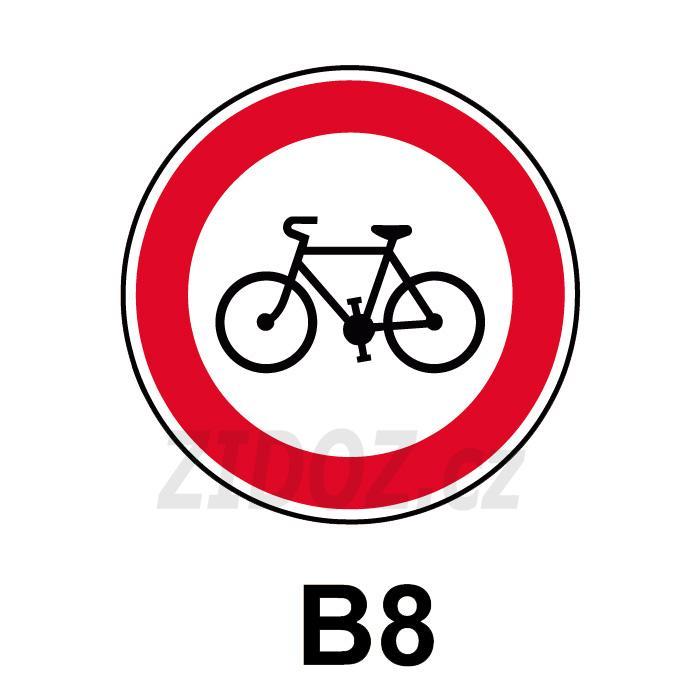 B08 - Zákaz vjezdu jízdních kol
