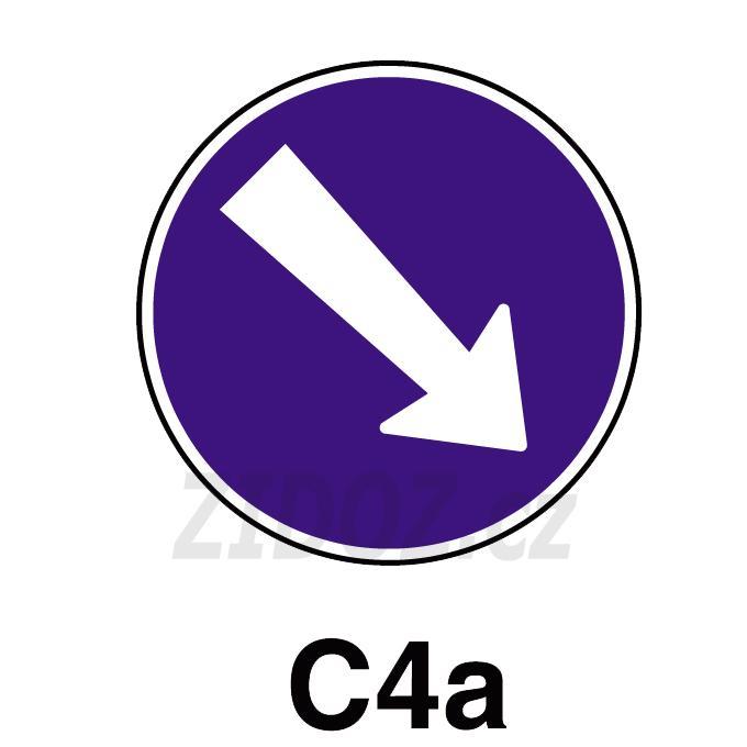 C04a - Přikázaný směr objíždění vpravo