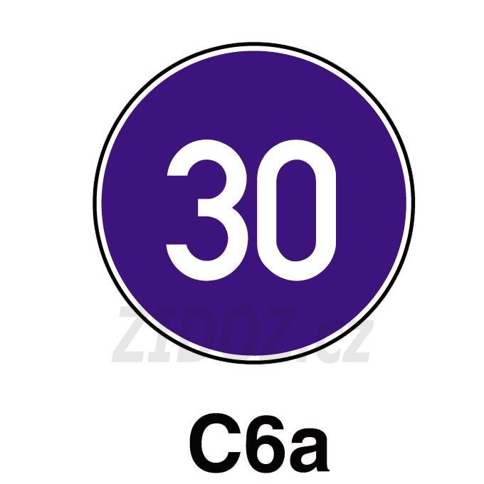 C06a - Nejnižší dovolená rychlost