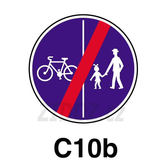 C10b - Konec stezky pro chodce a cyklisty