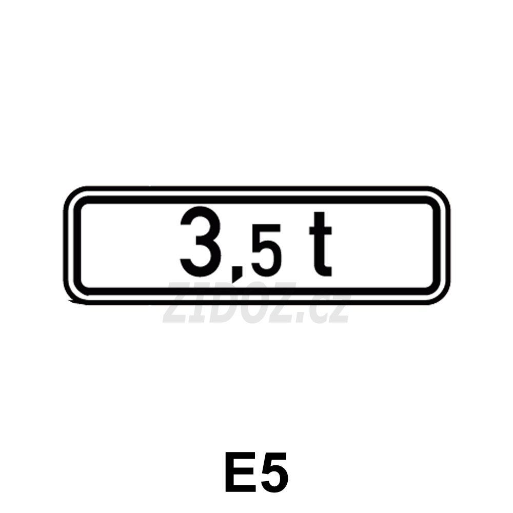 E05 - Celková hmotnost