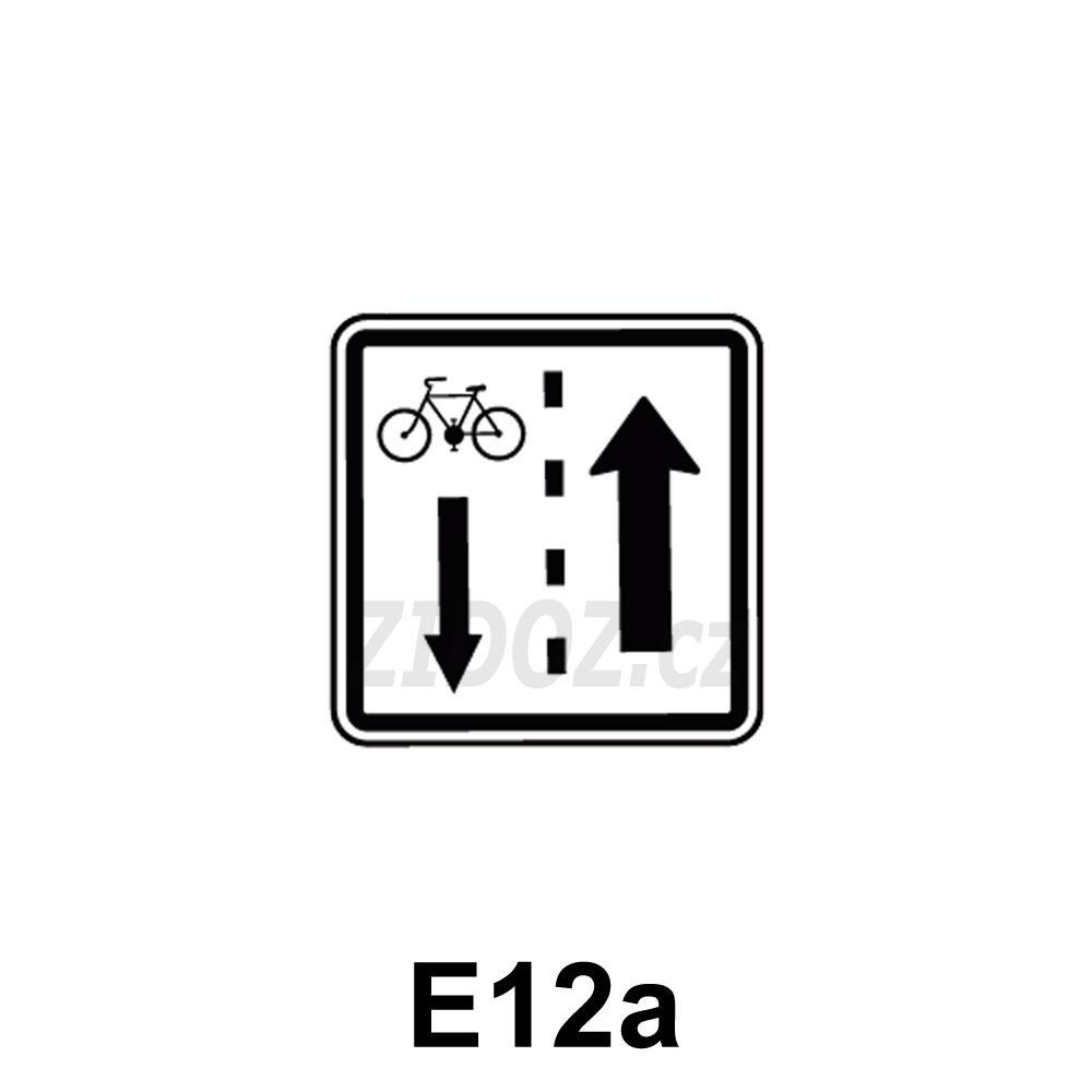 E12a - Jízda cyklistů v protisměru